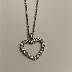 Jewelry - Sterling Silver Heart Necklace w/adjustable chain